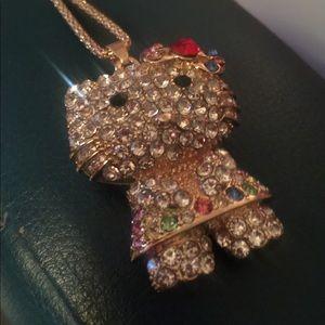 NWT BetseyJohnson kitty necklace